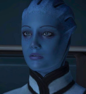 Liara T'Soni, a.k.a. the Space Autistic, a.k.a. the Space Asian