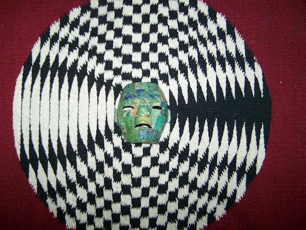 Mask on rug