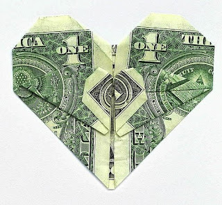 Сердце из 50 рублей