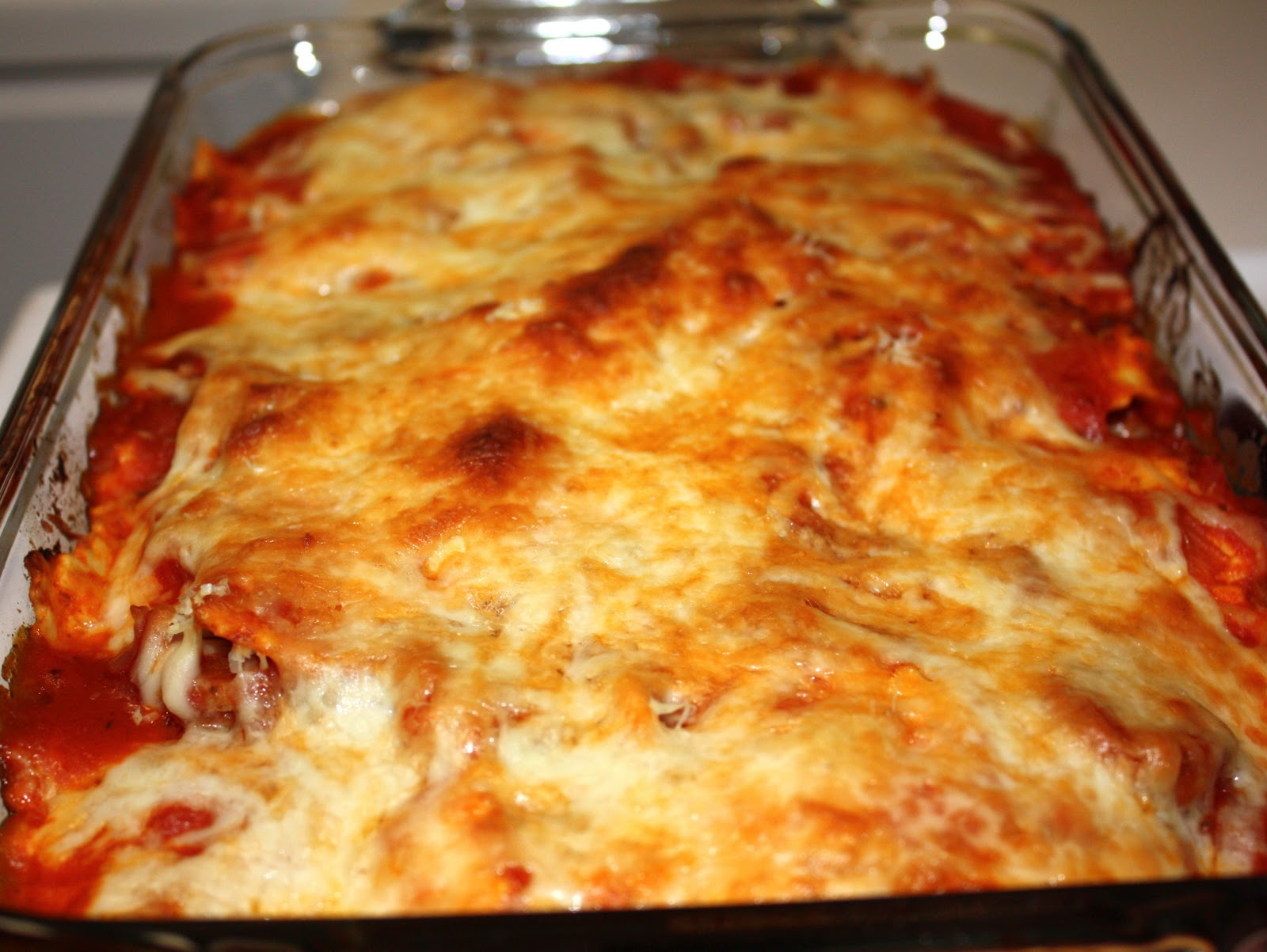 The Biggest Li'l Blog: Baked Ravioli with Chicken Sausage