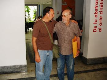 Con Roberto Fernandez Retamar, la mano franca