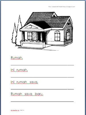 gambar kerja rumah on kerja rumah boleh digunakan untuk aktiviti mewarna gambar rumah ...