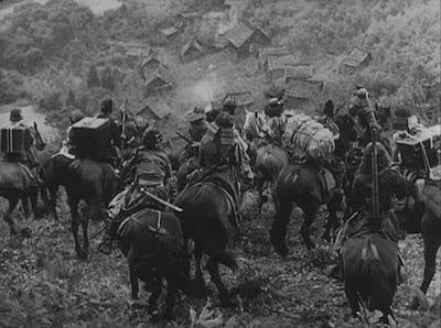 Seven Samurai horsemen