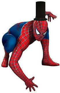Abraham Lincoln is Spider-Man and wears his tall top hat
