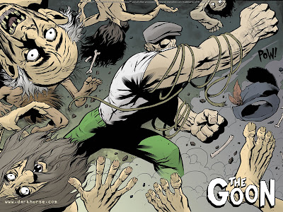 The Goon roughs up some zombies