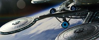 Enterprise leaves spacedock
