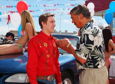 Fanboys character Eric Bottler at the car dealership