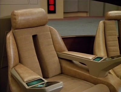 Enterprise-D bridge captain's chair