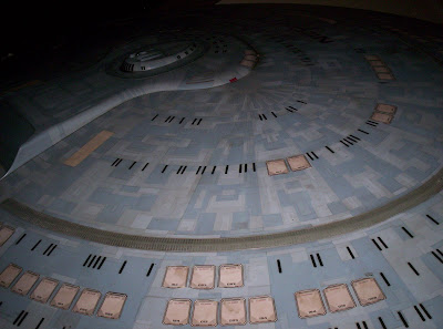 Saucer section of the Enterprise-D from the crash scene in Star Trek: Generations