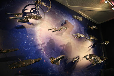 Star Trek: The Exhibition metallic ship models