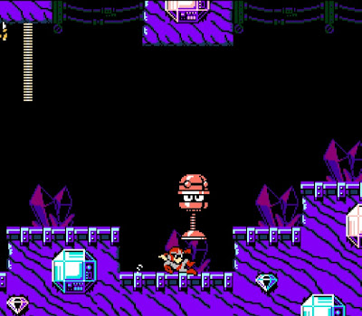 Playing as Proto Man in Jewel Man's stage in Mega Man 9