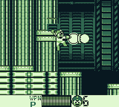 Screenshot of the floors and ceilings closing in Crystal Man's stage in Mega Man IV