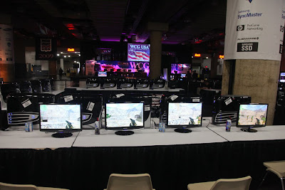 World Cyber Games room at the 2009 New York Anime Festival