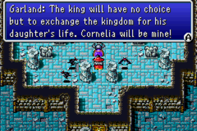 Final Fantasy I remake dialogue with Garland screenshot