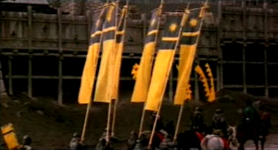 Ran soldiers with yellow flags