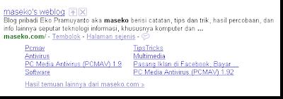 Sitelinks Preview - Maseko.com