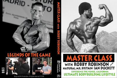 COVER OF NEW ROBBY'S DVD 'MASTER CLASS WITH ROBBY ROBINSON' Train with the legends of the iron game ▶ www.robbyrobinson.net/dvd_master_class.php