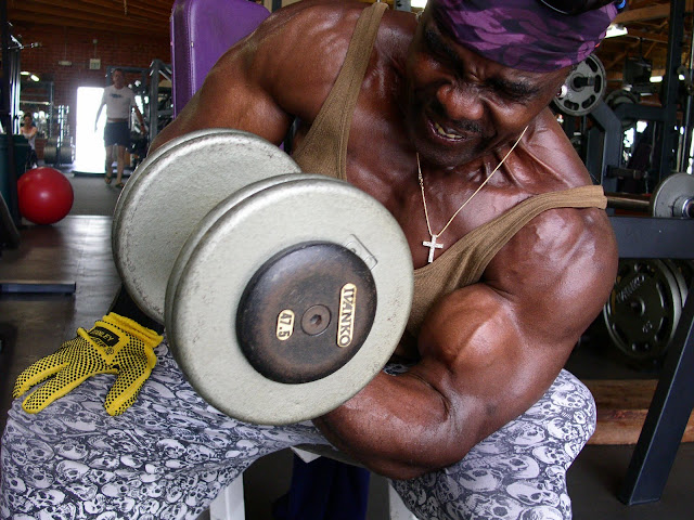 ROBBY ROBINSON - CONCENTRATION BICEP CURL OFF THE KNEE