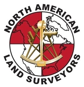 North American Land Surveyors  Canoe Team Logo