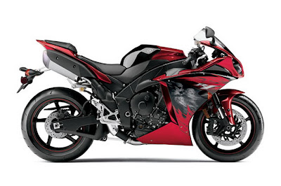2011 Yamaha YZFR1 deep metallic red