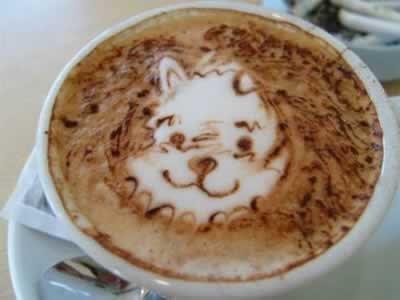 dibujos en el cafe