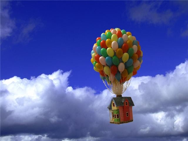 m ann m quotupquot hot air balloon and house go on an adventure
