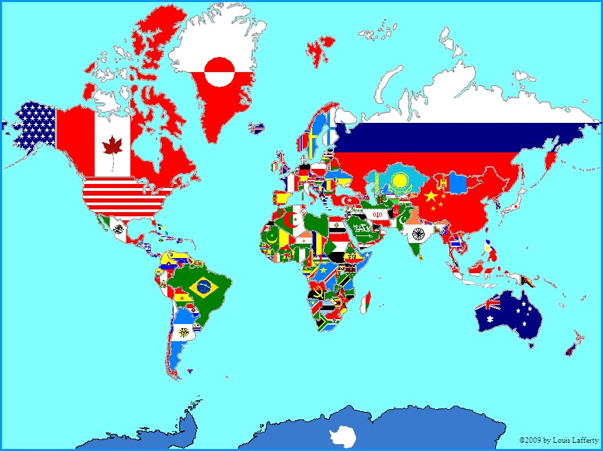 Multi National Flag Maps