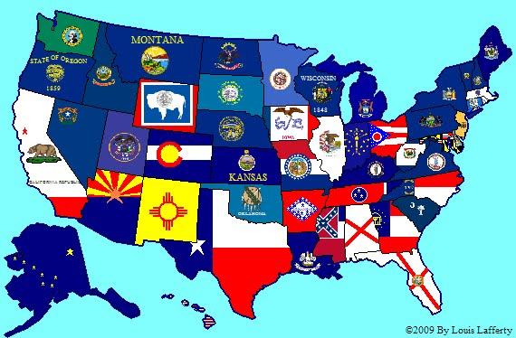Subdivisional Flag Maps SubNational Flag Maps - Us flag and map