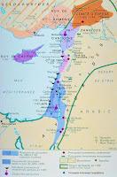 La Bataille de Montgisard (25 novembre 1177) carte_palestine