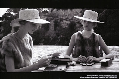 Vogue Italia November 2008, Katrin Thormann and Toni Garrn by Steven Meisel
