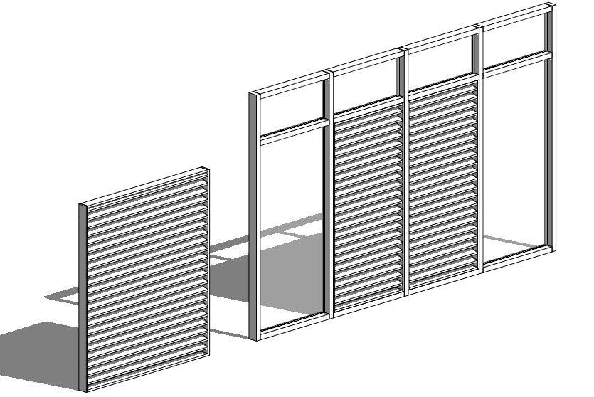 Curtain Wall Louvers : Revit oped curtain wall louvers or how to avoid arrays