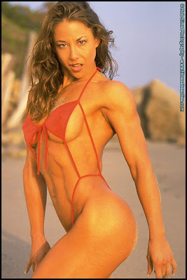 Fitness model charlene rink stripping