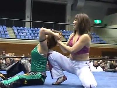 Tomoka Nakagawa - Mima Shimoda - wrestling matches
