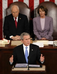 Cheney, Bush and Pelosi at the 2008 State of the Union address