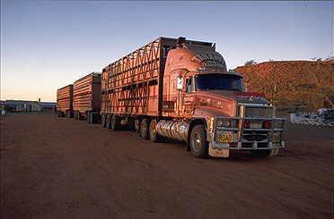 Австралийский грузовик road train. Kenworth t600