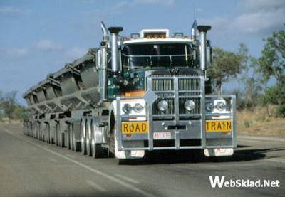 Road train на дорогах Австралии