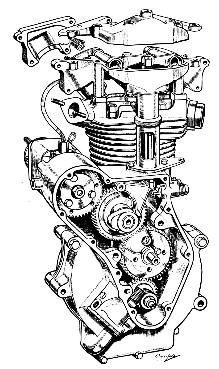 "The Velobanjogent: Pen and Ink Drawings, from ""MotorCycle ..."