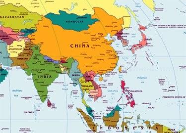 Gacekblog Geo Quiz East Asia - Map of east asia