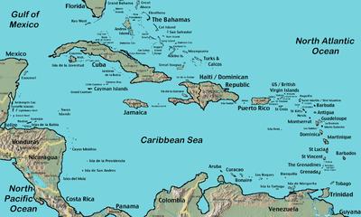 U S Territories U S Virgin Islands Dutch Territories Netherlands Antilles Aruba Bonaire Cuacao Independent Countries Antigua And