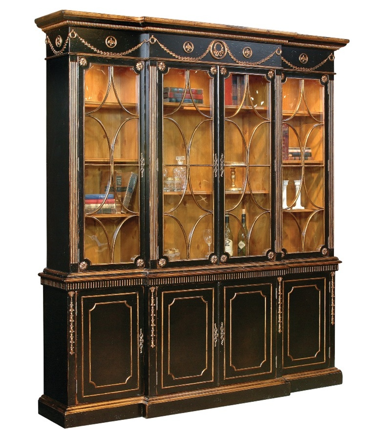 China cabinet Painted Library cabinet with Seeded Furniture | Luxury