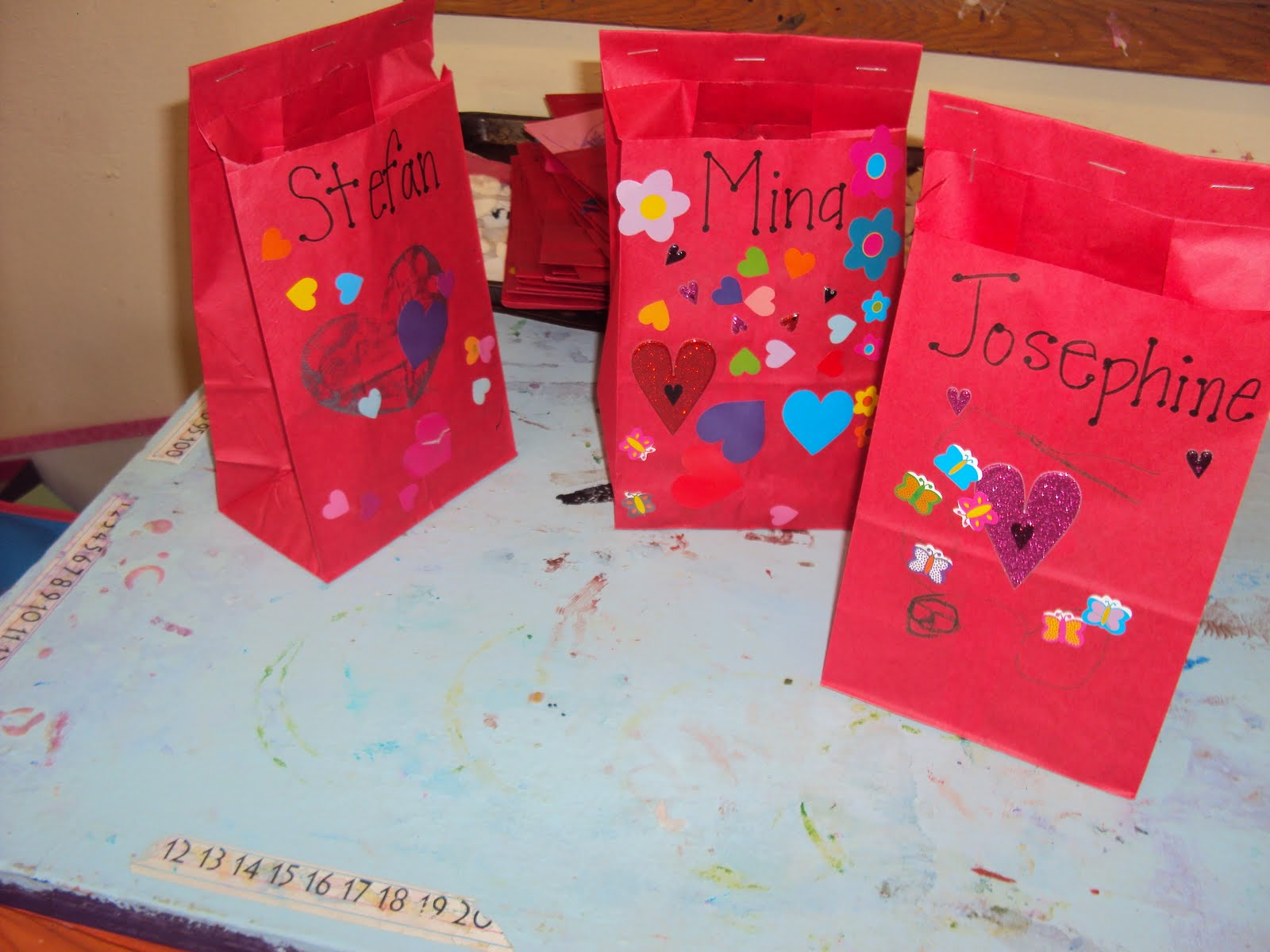 Valentine Bags For Kindergarten : Urban arts academy preschool valentine bags