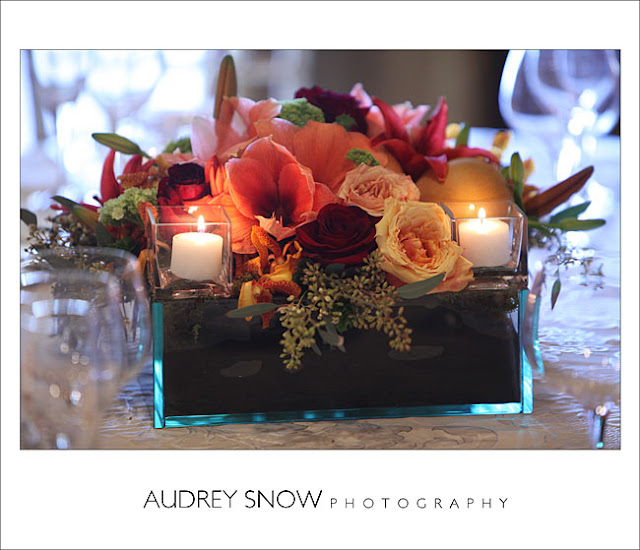Clean, Elegant Wedding florals using Plate Glass bowl from Accent Decor