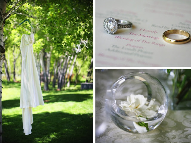 Gorgeous thick cut glass vase in wedding design