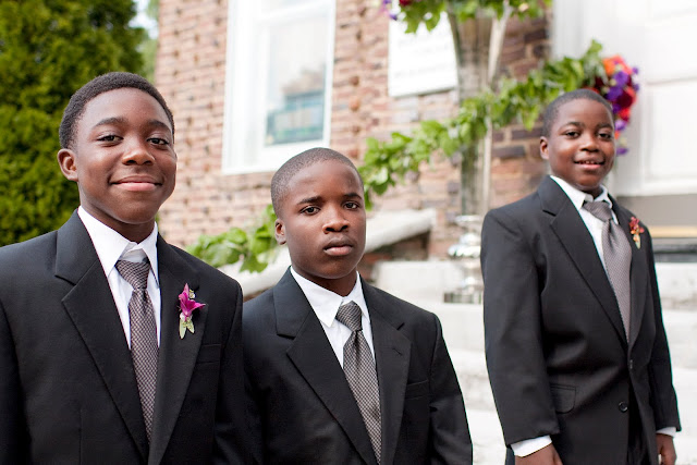 Ushers and ring-bearer Atlanta inner-city ministry