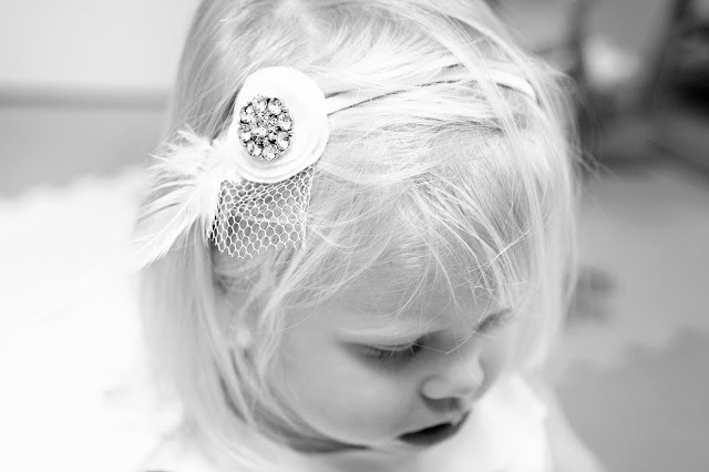 Flower girl headpiece by Atlanta wedding photographer