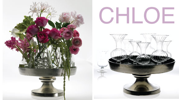 Wedding design using Chloe tray for Accent Decor featuring Hitomi Gilliam