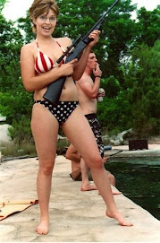 Bikini Clad Sarah Palin and her Rifle