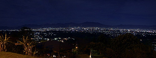 Bandung night over view