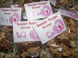 Preschool Valentine, Teddy Grahams valentine, teddy bear valentines