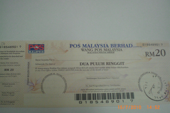 Wang pos malaysia